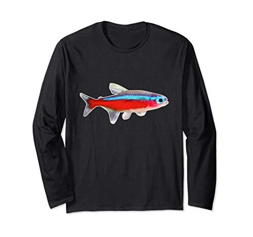 Neonsalmler Neonfisch Aquarienfisch I Hobby Aquaristik Langarmshirt