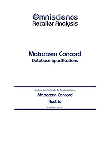 Matratzen Concord - Austria: Retailer Analysis Database Specifications (Omniscience...