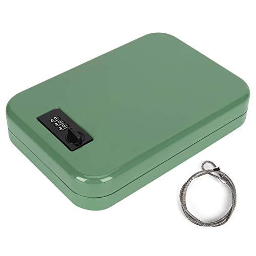 Passsword Safe Box, Caja de Almacenamiento de contraseña mecánica portátil de con cerraduras de aleación de Zinc, Organizador Seguro antirrobo de Hojas de Acero Laminado en frío, adecuad(Verde)