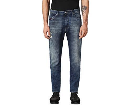 Diesel NARROT T 084PU Heren Denim Sweat Jogg Jeans Regular Fit Wortel, W33 L29
