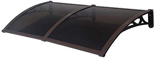 WQL El toldo Protege del Sol, la Lluvia, el aguanieve o el toldo de Nieve para la terraza del Patio y la Puerta Principal, 6 tamaños-60cmx160cm Soporte marrón