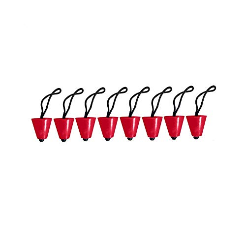 """Sanmum Kayak Scupper Plugs Kit Kayak Accessory Stopper Plug Fits Holes 3/4"""" to 1.5"""" for Canoe Drain Boats, Pack of 4 (8pcs red)"""
