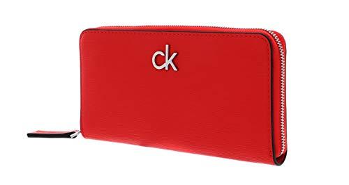 Calvin Klein Long Zip Around Wallet Vibrant Coral