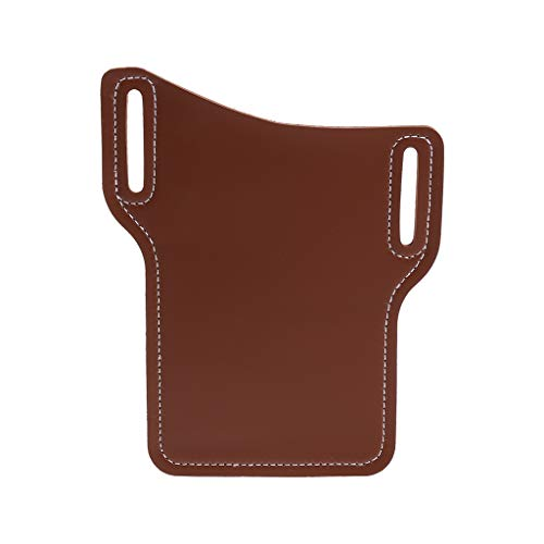niumanery Mobile Phone Carrier Belt Pouch Men PU Leather Loop Holster Case Belts Waist Bag Coffee