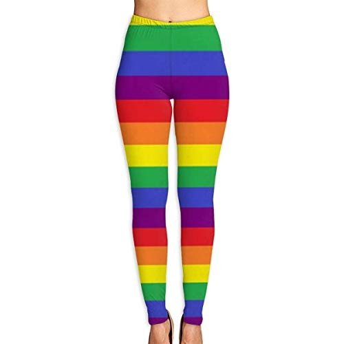 peitie104 Yoga-Hose Rainbow Pride Stripes Gay Women's High Waist Yoga Pants Workout Gym Running Fitness Leggings Pants Caparis