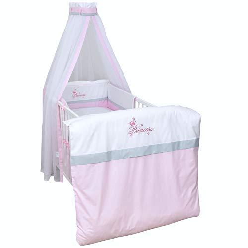 Baby Delux Baby Bettwäsche Bettset 4-tlg Bezüge Netschen Himmel Bettausstattung Bettgarnitur Kinderbett (Princess)