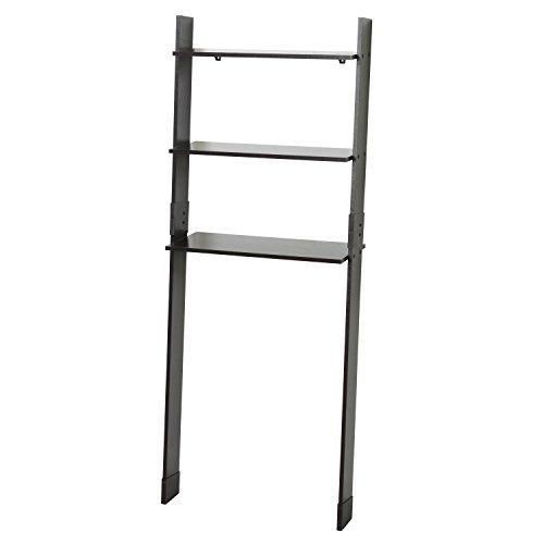 Zenna Home 9431CH, Leaning Wood Ladder-Style Bathroom Spacesaver, Espresso