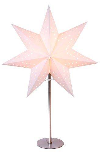 Standleuchte Stern, creme | Papierstern | Weihnachtsstern | Weihnachtsstern | Lampe | Dekostern | Fensterdeko
