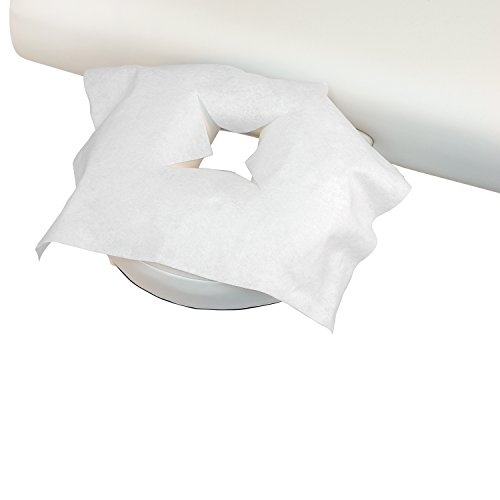 Einweg-Auflagen mit X-Ausschnitt, 100 Stk, Hygieneauflage für Kopfstütze bzw. Massageliege, 40 x 30,5 cm, Massagepraxis, Praxisbedarf