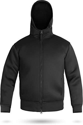 normani Neoprenjacke Kapuzenjacke Anglerjacke mit Fleece Futter [XS-3XL] Farbe Schwarz Größe 3XL