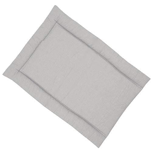 Sugarapple Wickelauflage 50x70 cm, ca. 3 cm dick mit Oberstoff aus 100% Baumwolle, innen weich und warm wattiert, doppelt abgesteppte Nähte und machinenwaschbar, Uni grau