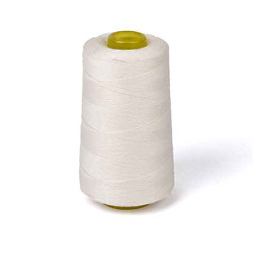 ROSENICE Cotton Sewing Thread Spool Quilting Threads for Sewing Machine 3000 Yards White