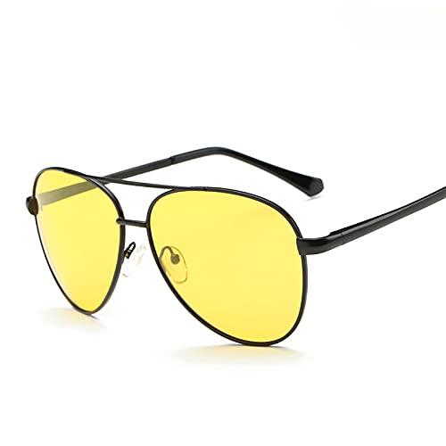 BEIAKE Gafas De Sol De La Visión Nocturna Luz Polarizada Adultos Gafas Gafas De Sol Adecuado para Ciclismo, Correr, Viajar, Playa, Drive Goggles,Negro