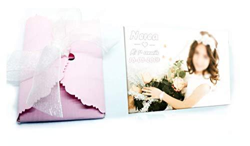 Detalles Party baby 25 Imanes recordatorios Bautizo Personalizados con Foto 6x7 cm