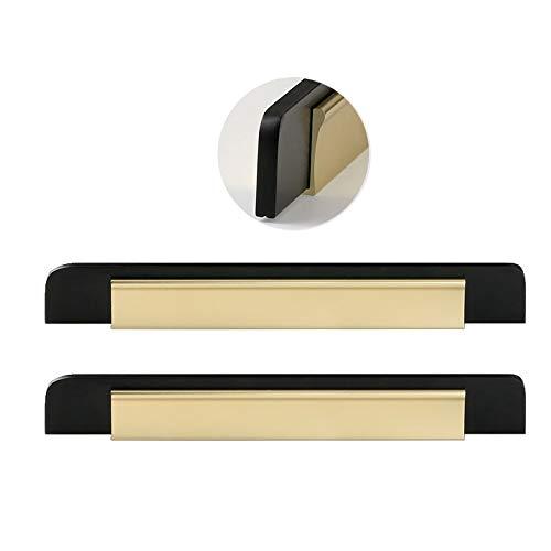 Maniglie per armadietti per cassetto Lungo cabined, Porta Armadio a Lungo Armadio Nero, Due Grandi (Color : Black+Gold, Size : 150mm)