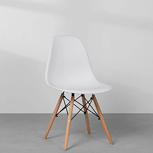 Cadeira Eames Wood Branca PP OR Design 1102B