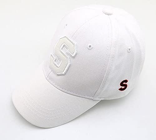WGMYDY Children's Baseball Cap Hip-hop Spring S Letter Children's Sun Hat Solid Boy Girl Hat Rebound Hat Outdoor Sun Hat (Color : B, Size : 1)