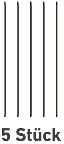 Windhager Set, Stahl-Rankstab, Pflanzenstütze, Rankhilfe, Pflanzstäbe, Tomatenstäbe, Grün, 5 Stück, 150 cm, 89115