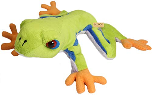 Zaloop Frosch ca. 21 cm Plüschtier Kuscheltier Stofftier Plüschfrosch D25 Rotaugenlaubfrosch