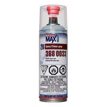 SprayMax 3680033, 2K Epoxy Rust-Cure Primer, Gray, Aerosol (1)
