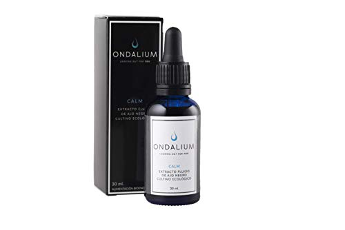 Ondalium Calm | Extracto fluido Relajante de Ajo Negro Ecológico español (1 mes) - Producto natural para el Sistema Nervioso. Ayuda a personas con ansiedad y estrés - 30 ml