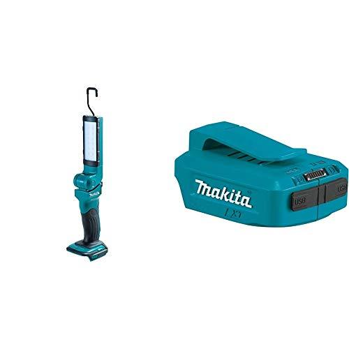 Makita Akku-Lampe  DEADML801 & DEAADP05 Akku-USB Adapter 18 V