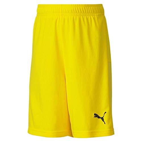 PUMA Kinder teamGOAL 23 knit Shorts jr, Cyber Yellow, 140