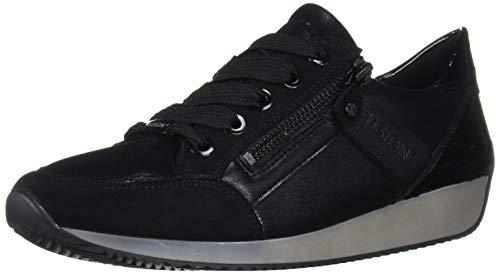 ARA Women's Lola Sneaker, Black Scala/Sporticalf/Crunchlack, 6.5 Medium UK (9 US)