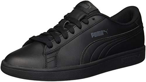 PUMA Unisex Smash V2 L JR Sneaker, Black, 5.5 M US Big Kid