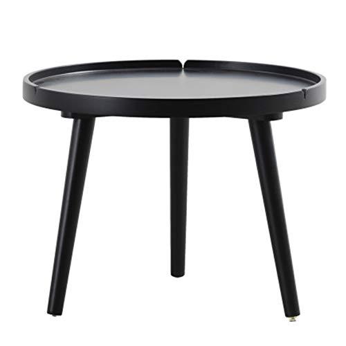 Dfghbn Mesita de noche moderna de centro de mesa auxiliar de noche, sofá esquinero lateral para mesas de salón (color: negro, tamaño: 50 x 38 cm)