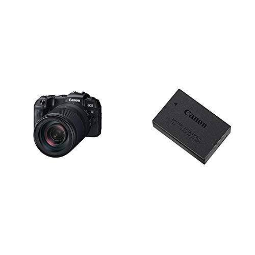 Canon EOS RP Systemkamera (26,2 MP, 7,5 cm (3 Zoll) Clear View LCD II, Digic 8, 4K Video) mit Objektiv RF 24-240mm F4-6.3 is USM ohne Bajonettadapter EF-EOS R & 9967B002 Akku LP-E17