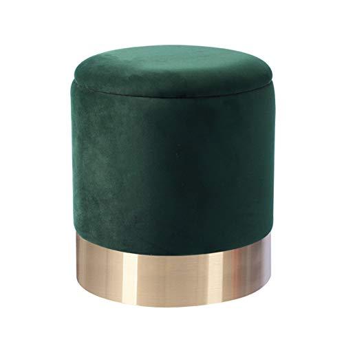 BUYYUB Material De Terciopelo 1pc, Sofá De Lujo Ligero Taburete De Maquillaje para Sala De Estar Dormitorio 30 * 30 * 35 Cm (Color : Green)