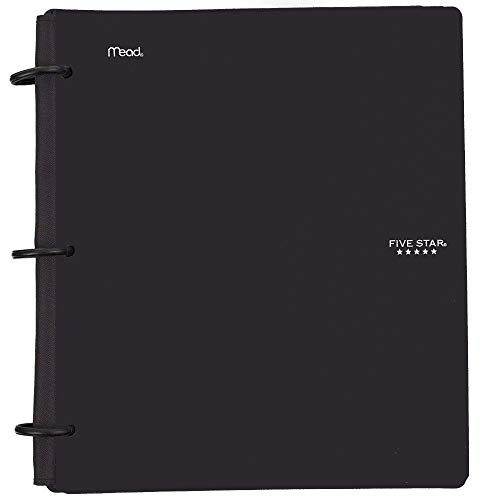 Five Star Flex Hybrid NoteBinder, 1-1/2 Inch Binder with Tabs, Notebook and 3 Ring Binder All-in-One, Black (72403)