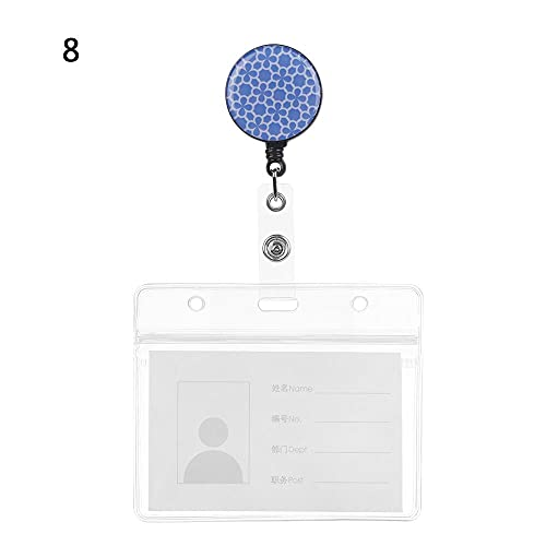 XKMY 1 soporte de tarjeta retráctil ajustable con cordón para tarjeta de crédito, tarjeta de trabajo (color: 8)