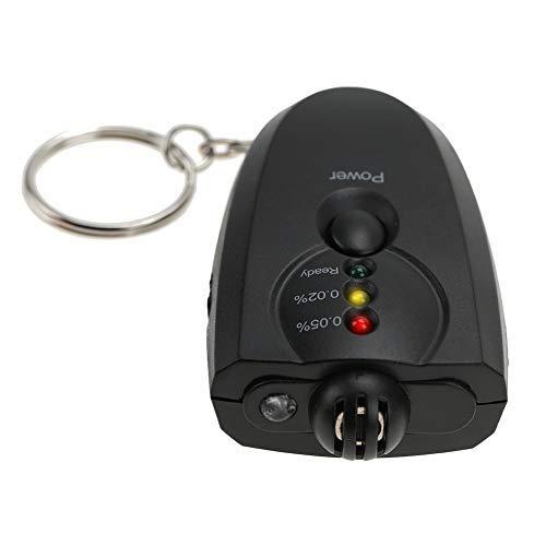 TMISHION Alcoholímetro, Mini Llavero Portátil LED Alcohol Alcoholímetro para Uso Personal y Profesional