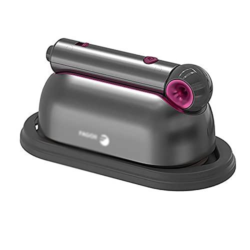 Vaporizador De Mano Máquina de mano de prenda de mano Pequeño hierro eléctrico Plancha de vapor Plancha Ropa de planchar en casa Adecuado Para La Familia ( Color : Gris , Size : 28.6x8.7x11.5CM )