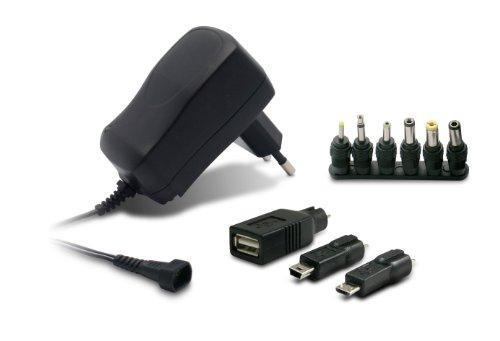 METRONIC 495035 Alimentation universelle 600 Ma avec 9 connecteurs, Noir