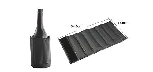 AGNN Kühl Wein-Beutel Eisbeutel Zipfel Picknick Getränkeflaschenkühler Weinregal Cooler Wein-Halter Bier Chiller (Color : Black)