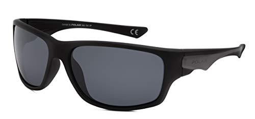 Polar herren-Sonnenbrille polarisiert matt schwarz/dunkelgrau (P3003/76)