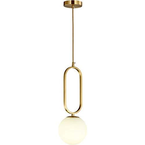 LVYI Alle Kupfer Oval Kronleuchter Restaurant Lampenglas Einfache kreative Personality Hotel Sofa Schlafzimmer Warm Nachttischlampe ist geeignet for Arbeitszimmer Küche Wohnzimmer Esszimmer Schlafzimm