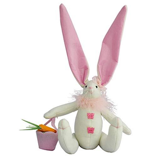 YU-HELLO _Suave peluche con adornos de conejo de Pascua, juguete para decoración del hogar