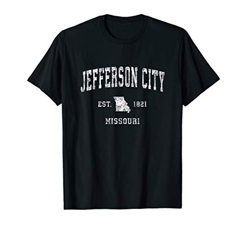 Jefferson City Missouri MO Vintage Athletic Sports Design T-Shirt