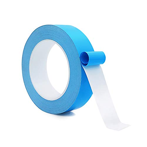 Thermal Adhesive Tape, 25Mx20mmx0.25mm High Performance Thermally Double Side Tapes Cooling Pad Apply To LED Strips, 3D Printer,BCP,CPU,GPU,Laptop Heatsink,And have heat conduction, insulation,
