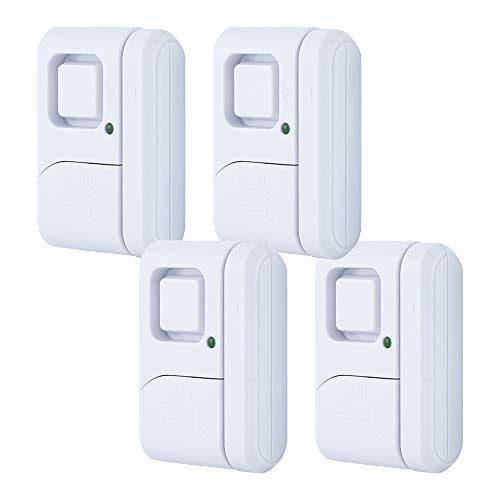 GE Personal Security Window/Door, 4-Pack, DIY Protection, Burglar Alert, Wireless, Chime/Alarm, Easy Installation, Ideal for Home, Garage, Apartment, Dorm, RV and Office, 45174, 4