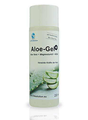 MSM Magnesium Aloe Gel - mit atherischen Ölen - 200ml - Aloe-Gel Plus