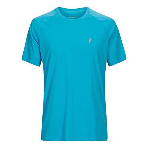 Peak Performance Men Fly Tee Vêtements De Course T-Shirt Blue - Black S