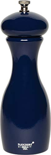 Fletchers' Mill MAR07PM23 Marsala Collection Pepper Mill, 7 inch, cobalt