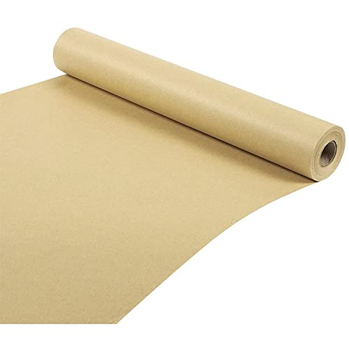 Rotolo di Carta Kraft - Pacchetto Convenienza Jumbo 30,5 Metri - Rotolo di Carta da Pacchi Marrone - 44,5 cm di Larghezza