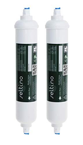 Amico 2X Seltino geeignet für Samsung HAFEX/EXP DA29-10105J kompatibel mit Externer Kühlschrank Wasserfilter, passend zu LG, Daewoo, Bosch, Siemens und Others