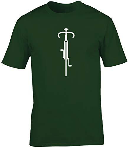 Hippowarehouse Bike Lines Cycling (Bicicleta Dibujo Lineal) Camiseta Manga Corta Unisex